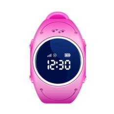 Розовые детские часы с GPS Smart Baby Watch W8