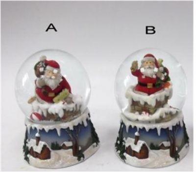 Водяной шар Дед Мороз, 7х7х9 см
