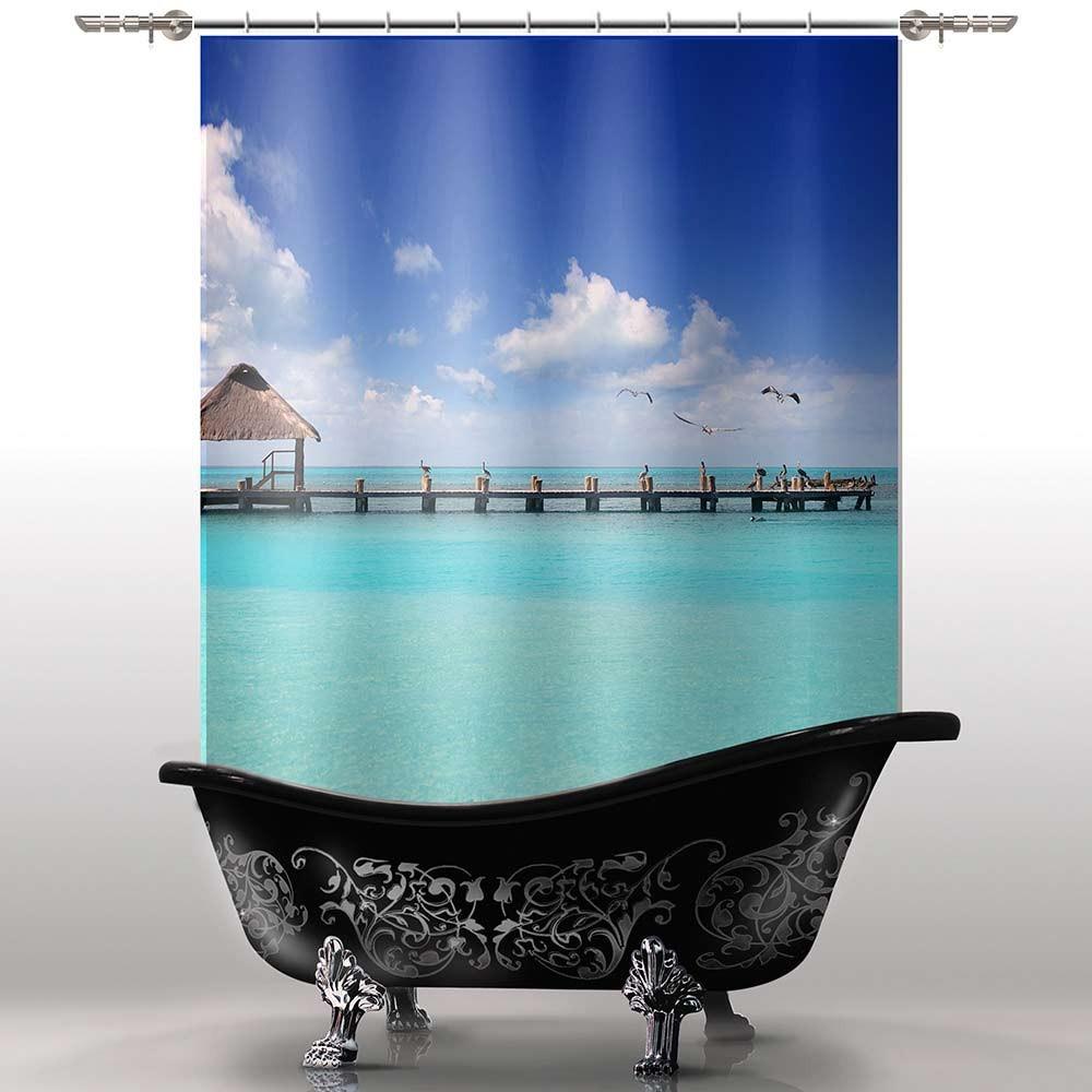 Шторка для ванны Океан