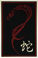 Картина из кристаллов Сваровски Год змеи