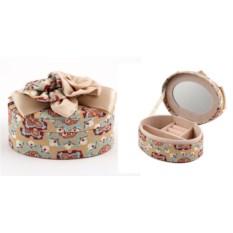 Овальная шкатулка для ювелирных украшений Бантик