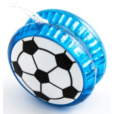 Волчок на шнуре YO-YO Футбол голубого цвета