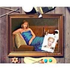 Портрет по фото Дама с собачкой