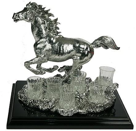Подарочный набор для крепких напитков Лошадь, на 6 персон