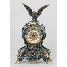 Часы из бронзы Орёл 35х21 см, цвет синий с золотом