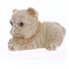 Бело-золотистая фигурка Собака