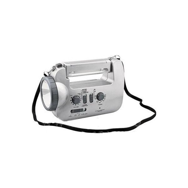 Радио с фонарем, лампой дневного света и сиреной