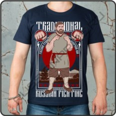 Мужская футболка Кулачный бой, russian pride