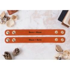 Оранжевые парные браслеты «Сладкая парочка» с гравировкой