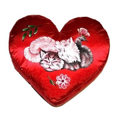 Подушка-сердце «Спящие котята»