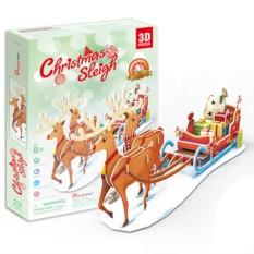 Пазлы Cubic Fun Рождественские сани с подсветкой