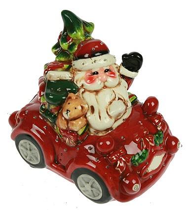 Декоративная фигурка Дед Мороз с подарками, с подсветкой