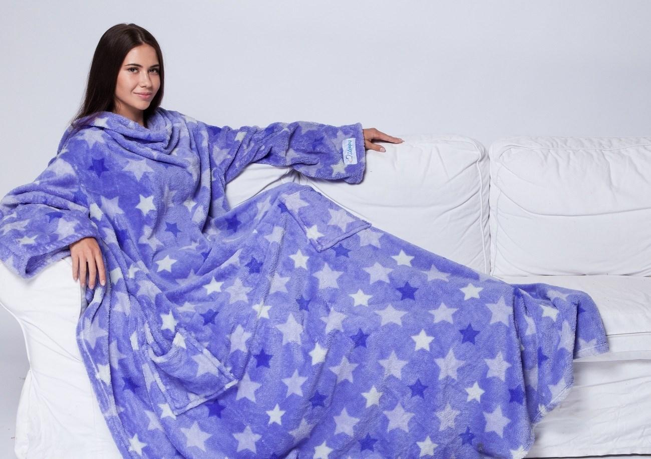 Плед с рукавами Sleepy Luxury «Звезды» с поясом