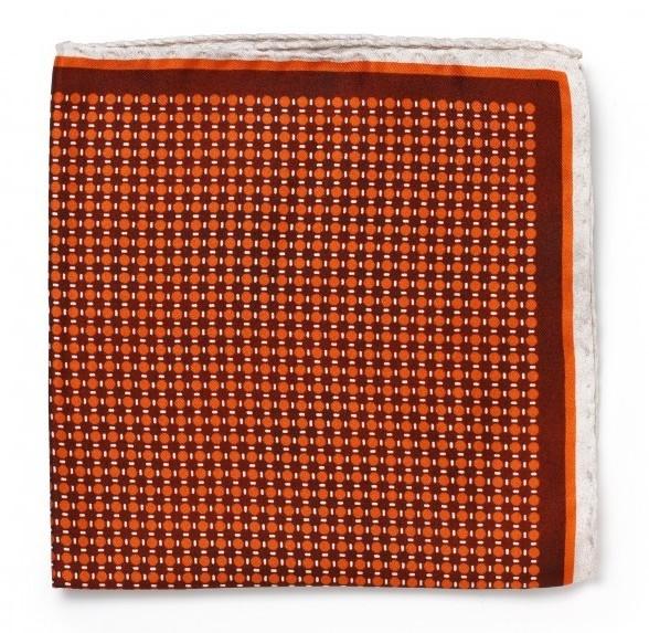 Шёлковый платок Roda, узор в горох, оранжевый