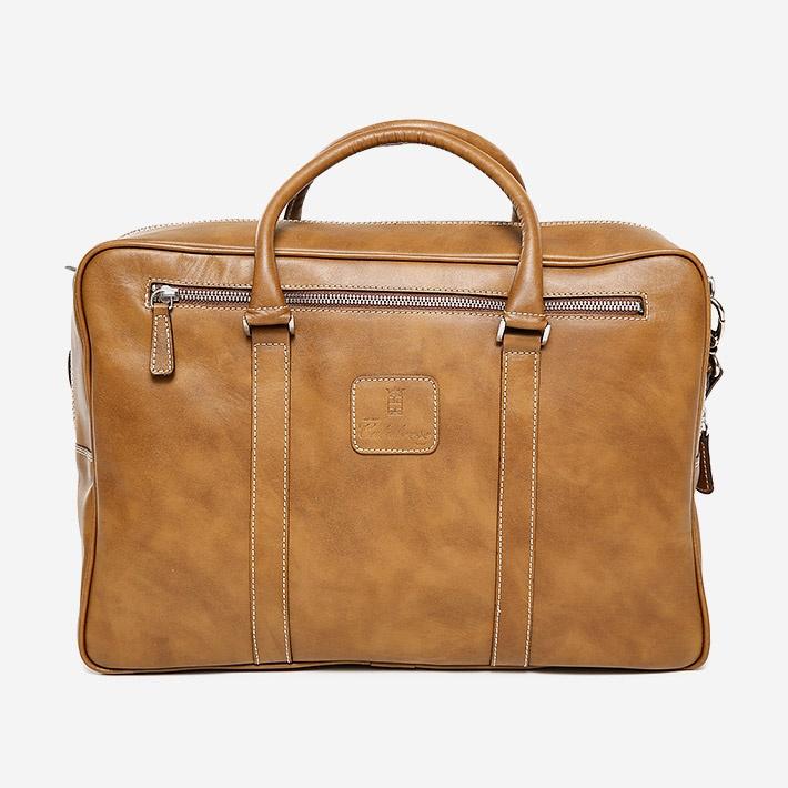 Светло-коричневая кожаная сумка