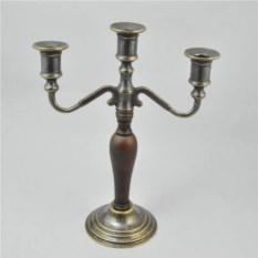 Латунный канделябр на 3 свечи, размер 31x24x11 см