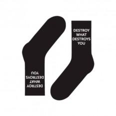 Носки Destroy or die (цвет — черный)