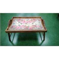 Столик для завтрака в постель с ручками Розовая симфония