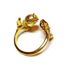 Позолоченное кольцо Имя розы