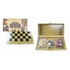 Игра 3 в1 Шахматы, шашки, нарды, размер 35 х 19 х 5,5 см