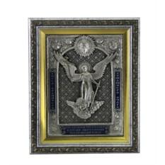 Икона Ангел Хранитель (скань с эмалями)