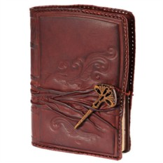 Кожаный ежедневник формата А5 «Посох мудрости»