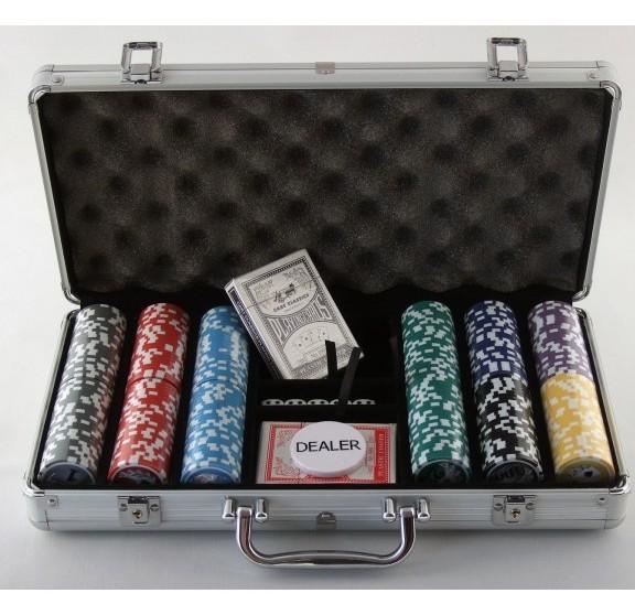 Набор для покера в кейсе 300 (c номиналом)