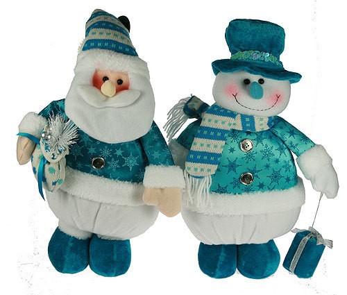 Новогодний сувенир Дед Мороз/снеговик, 38 см