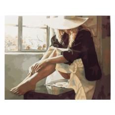 Картины по номерам «Задумчивая»