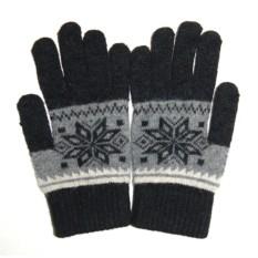 Черные шерстяные перчатки для сенсорного экрана iGloves