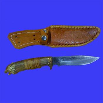 Нож «Ирбис» с литьем и рисунком на клинке