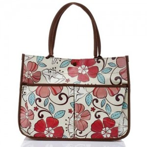 Пляжная сумка горизонтальная Flowers