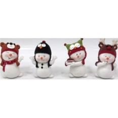 Новогодний сувенир Забавный снеговик