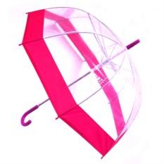 Прозрачный зонт-купол,  сиреневый