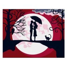 Картины по номерам «Встреча при Луне»