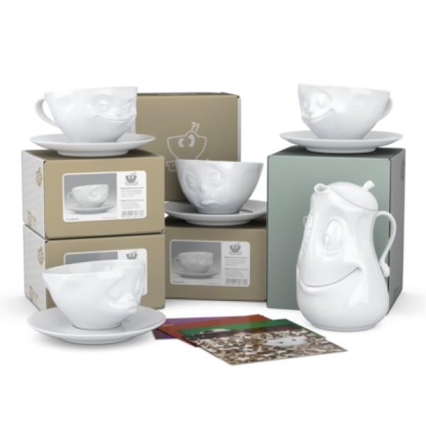 Набор из 4х чайных пар и чайника Весельчак Tassen