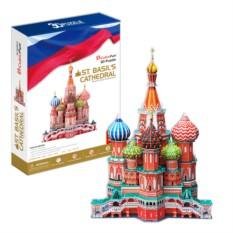 3D пазл Cubic Fun Собор Василия Блаженного (Россия)