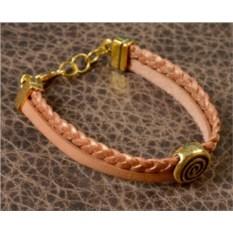 Светло-коричневый браслет