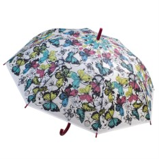 Женский полуавтоматический зонт Бабочки