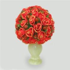 Цветы из сердолика Букет Изиды