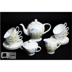 Чайный сервиз на 6 персон Сиреневый цветок