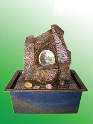 Фонтан Каменная композиция с шаром