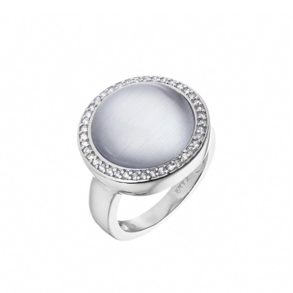 Кольцо Frank Trautz из родированного серебра