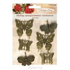 Набор декоративных элементов Бабочки, 6 шт.