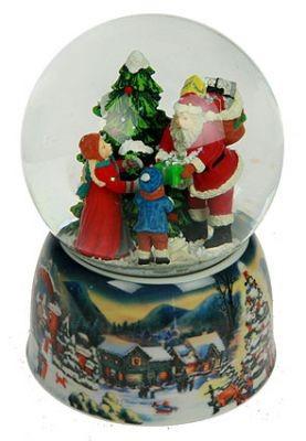 Музыкальный водяной шар Дед Мороз с детьми