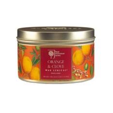 Ароматическая свеча в железной банке Апельсин и гвоздика