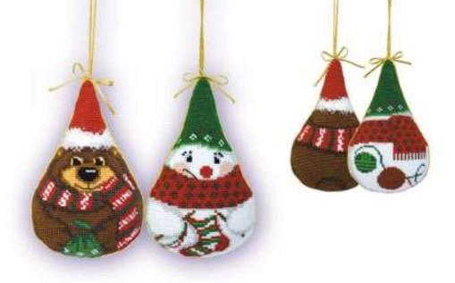 Набор для вышивания Снеговик и мишка