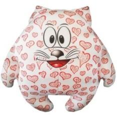 Мини подушка-игрушка Котик Влюбленное сердце