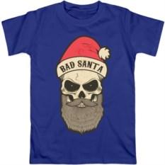 Мужская футболка Череп-санта, разные цвета