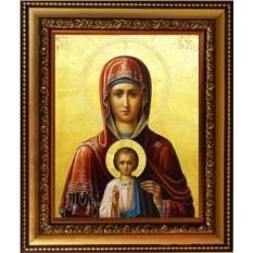 Икона Божьей Матери на холсте Услышательница